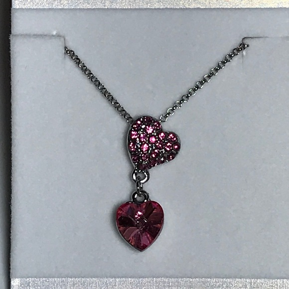Birthstone Necklace and Earrings Gift Set with Swarovski Elements BNIB